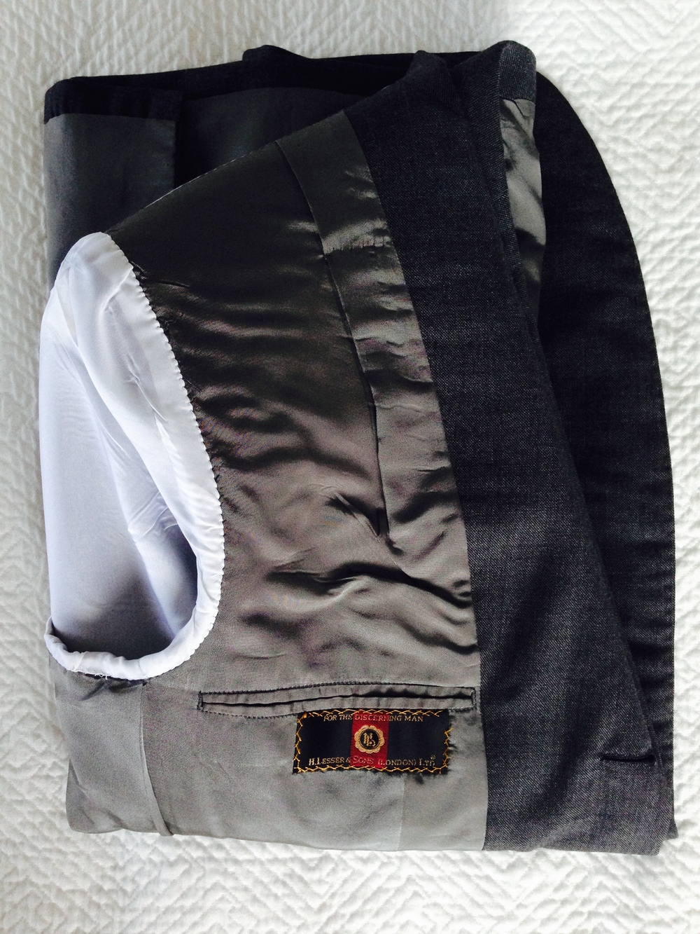 A jacket neatly inverted and folded.