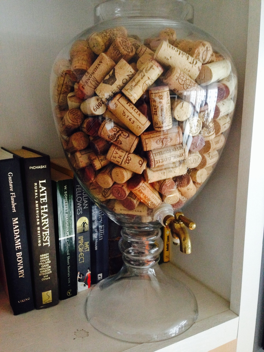 The guilty urn, retired along with Madame Bovary, to a shelf where it holds nothing more potent than old corks.