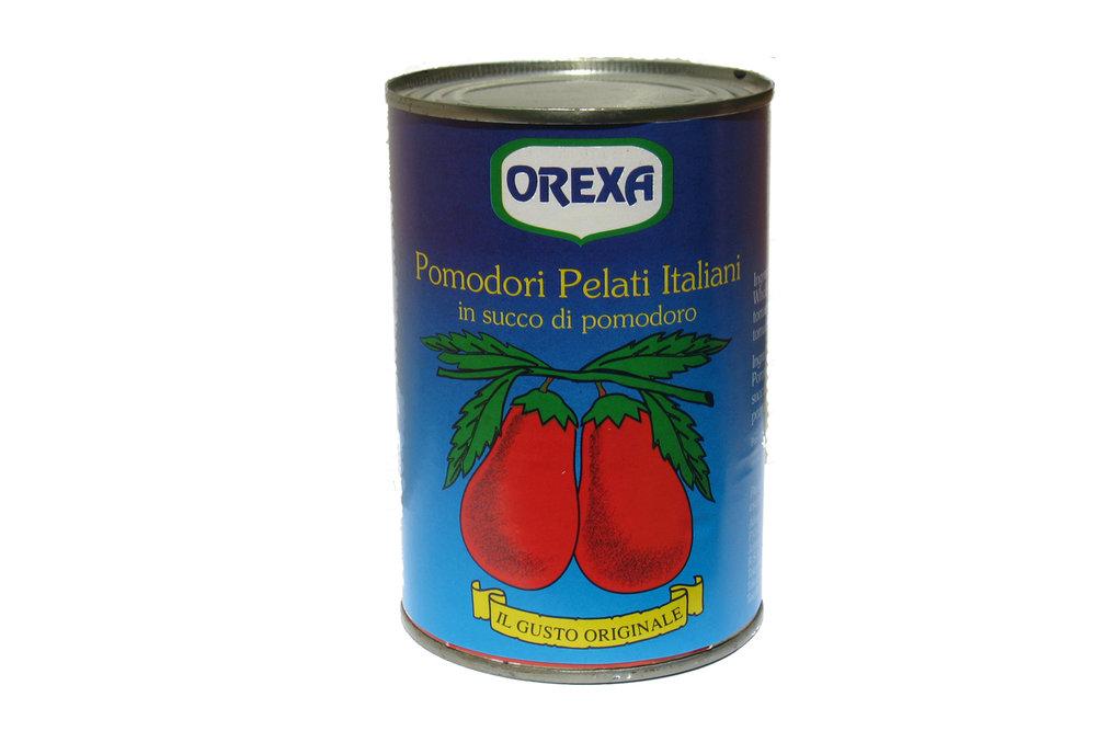 Orexa whole peeled tomatoes 400g
