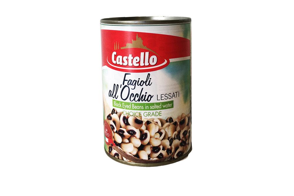 Castello black eye beans 400g