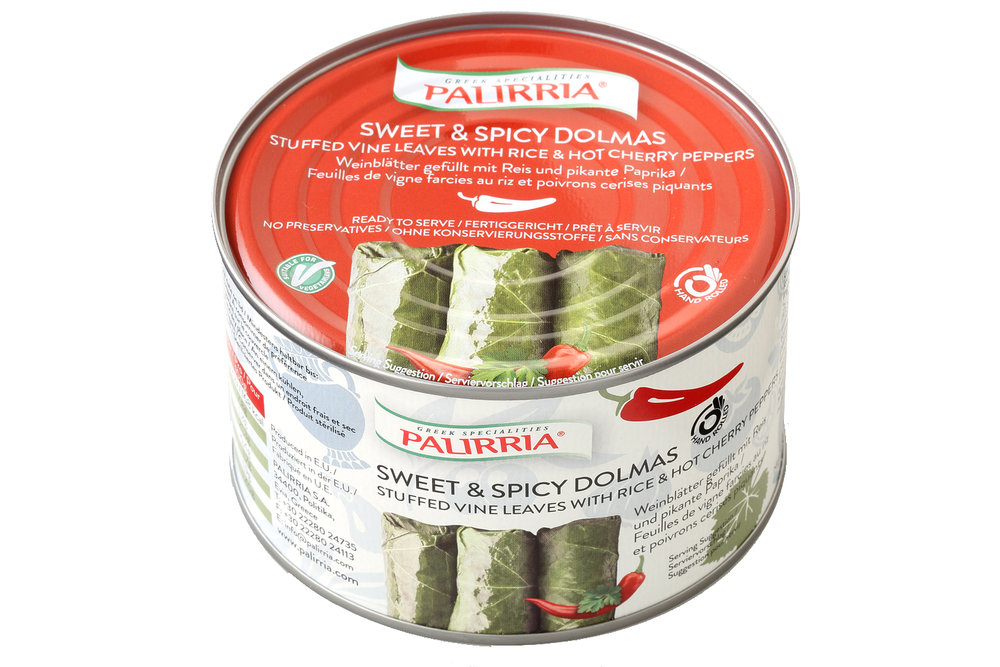 Palirria sweet and spicy stuffed vine leaves 400g