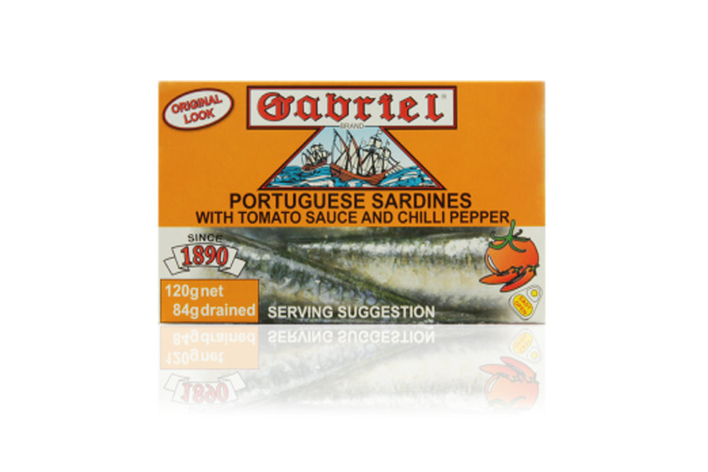 Sardines Gabriel in tomato and chilli sauce 120g