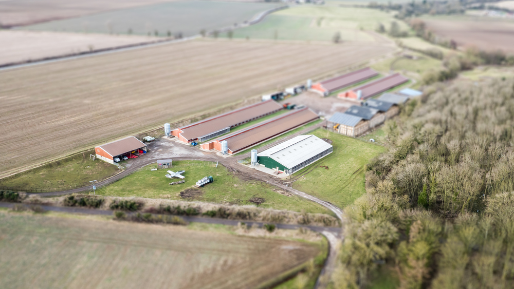 Aerial photo of an East Yorkshire farm