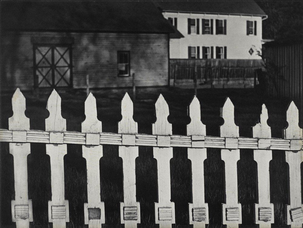 The White Fence, Paul Strand, 1016