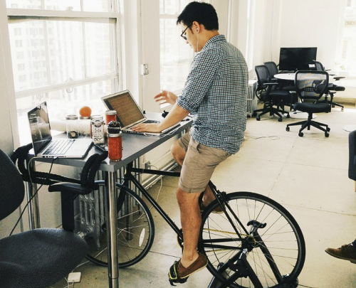 A Bicycle Desk? Image taken from theatlantic.com