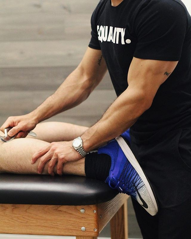 Soft tissue mobilization or IASTM (graston) is performed at #BespokeTreatments in order to improve soft tissue extensibility, increase blood flow/circulation, mobility and range of motion.