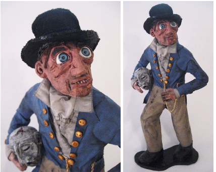 """Old Head Allen""  Ceramic, Mixed Media, 2015"
