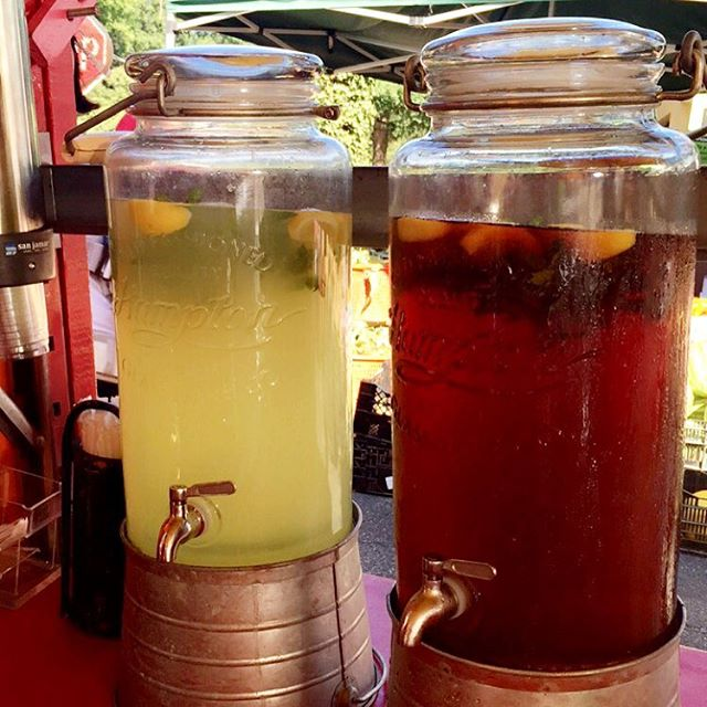 Come and try out homemade Lemonade and Ice Tea to fight the heat! #heat #lemonade #icetea