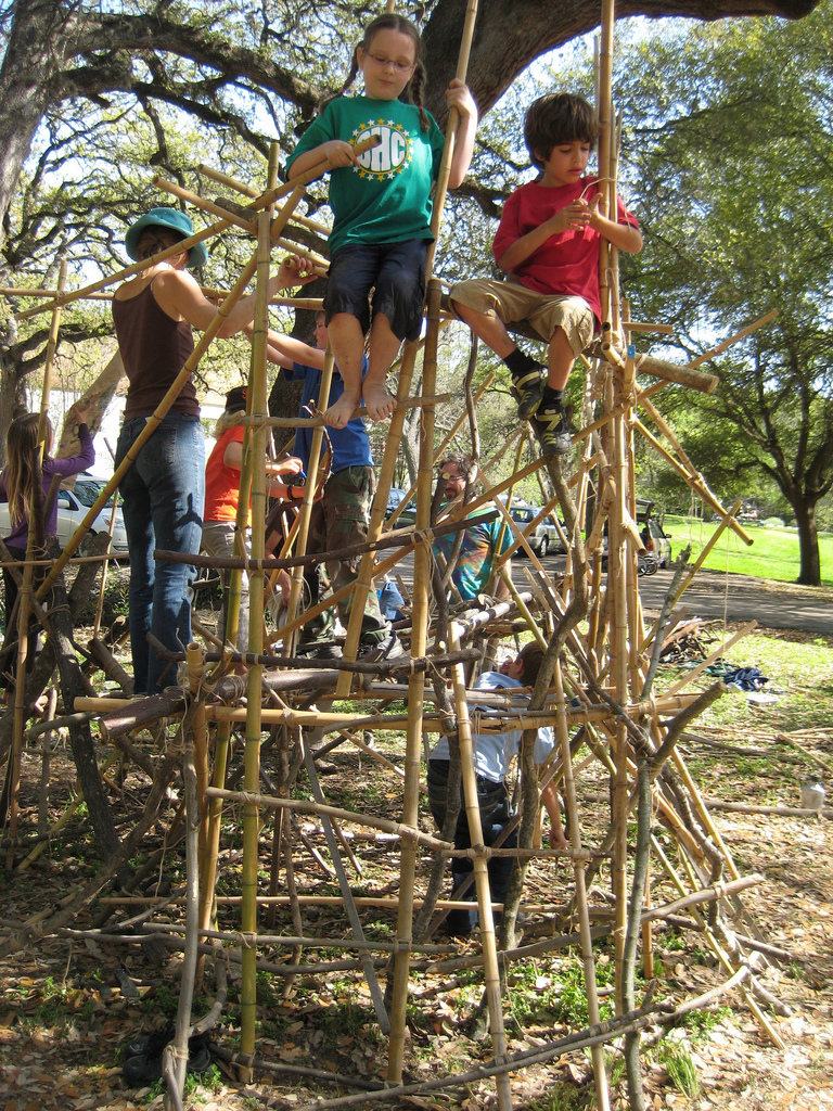 we spent one whole summer lashing and made some incredibly strong structures