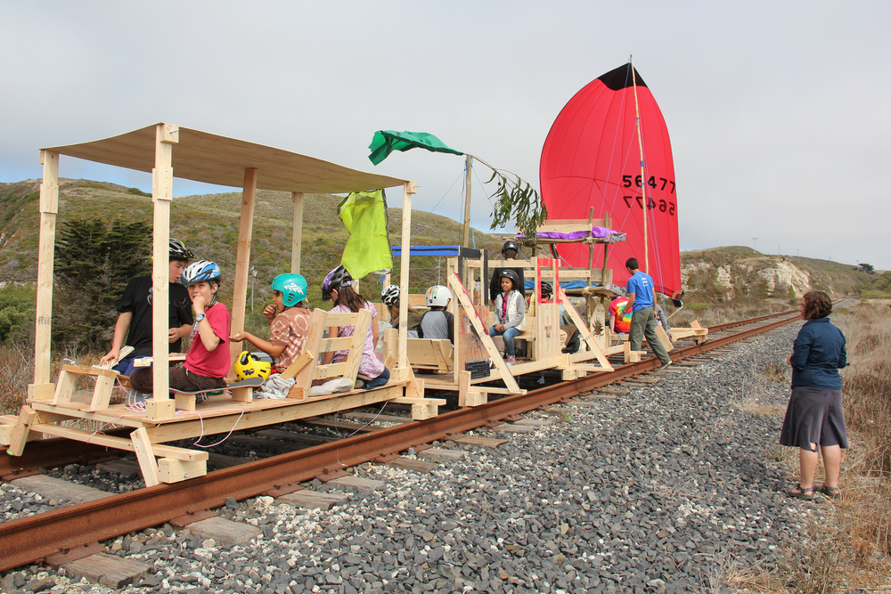 The sail powered rain-train is nearly ready for launch.