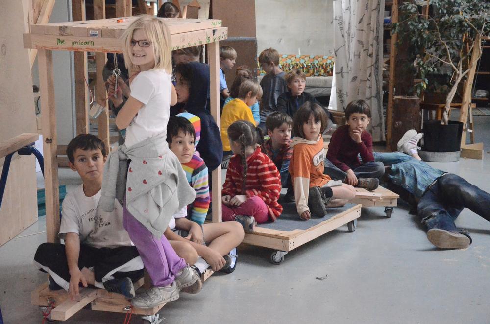 Kids Build a Train