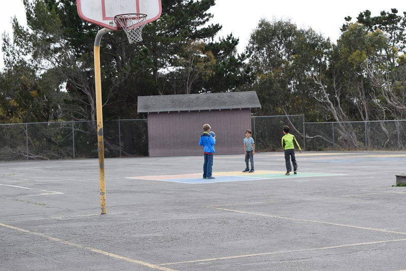 When you have three people, it's kinda hard to play four-square. But still possible.