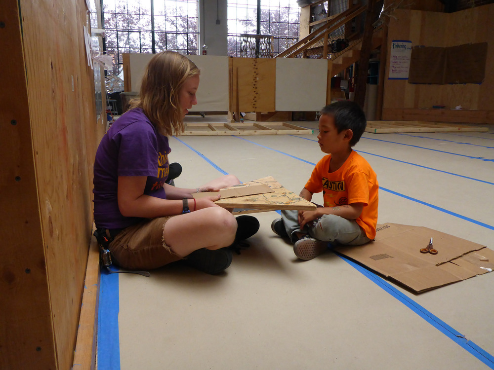 Lindsay and Haruki discuss transferring pop-up paper folding to working with wood.
