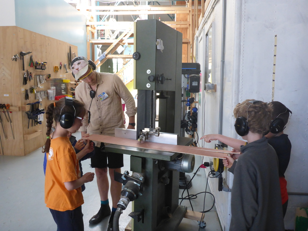 Tinkerers learn to use the band saw