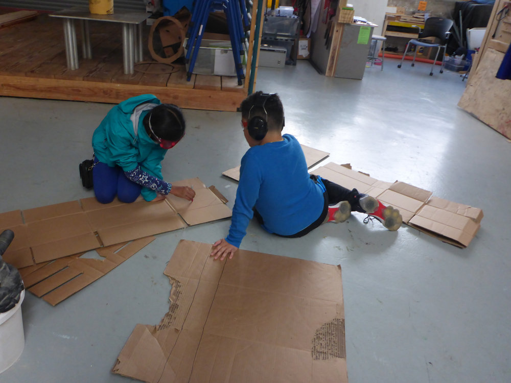 Maanasa drew out the wings, so Isaiah could cut them out on the bandsaw!