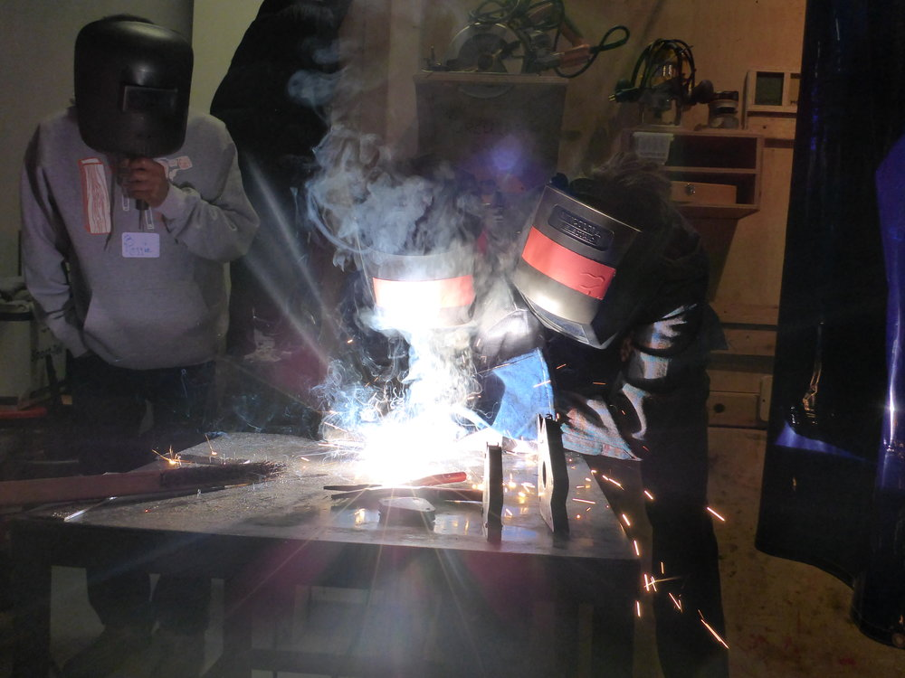 Jackson's goal for next week is to make one, longer, continuous weld, instead of many shorter welds.