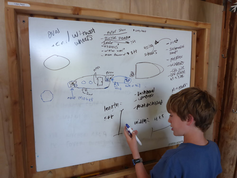 Dylan adds some dimensions and details to the exploration vehicle's design.