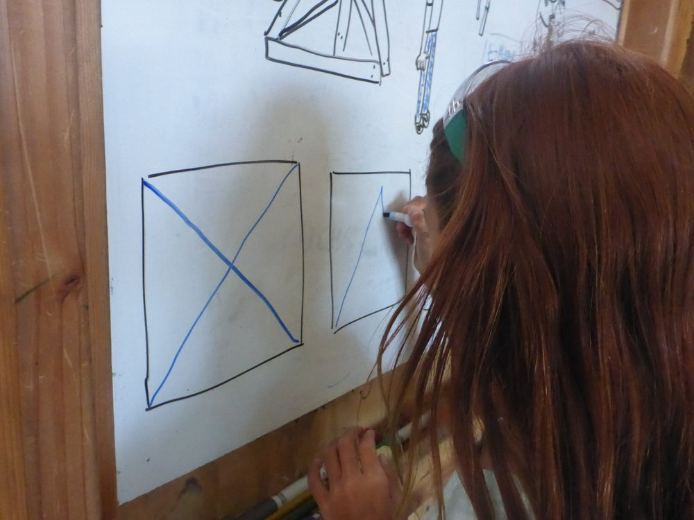 So, they came up with a few different ways to add triangles to their cube.