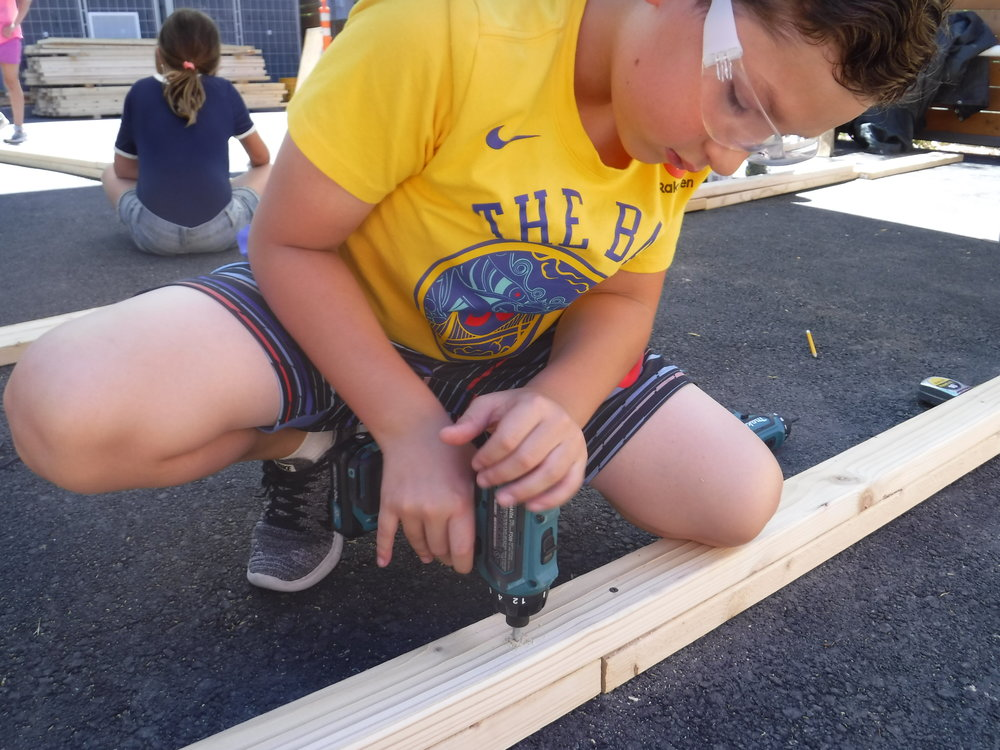 Drill training leads to student independence when connecting pieces of 2x3.