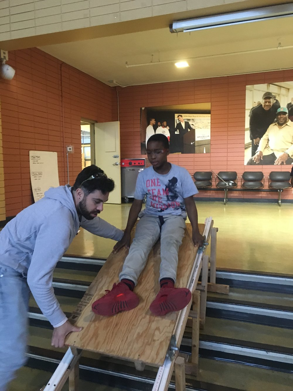Mekai tests the ramp for the first time!