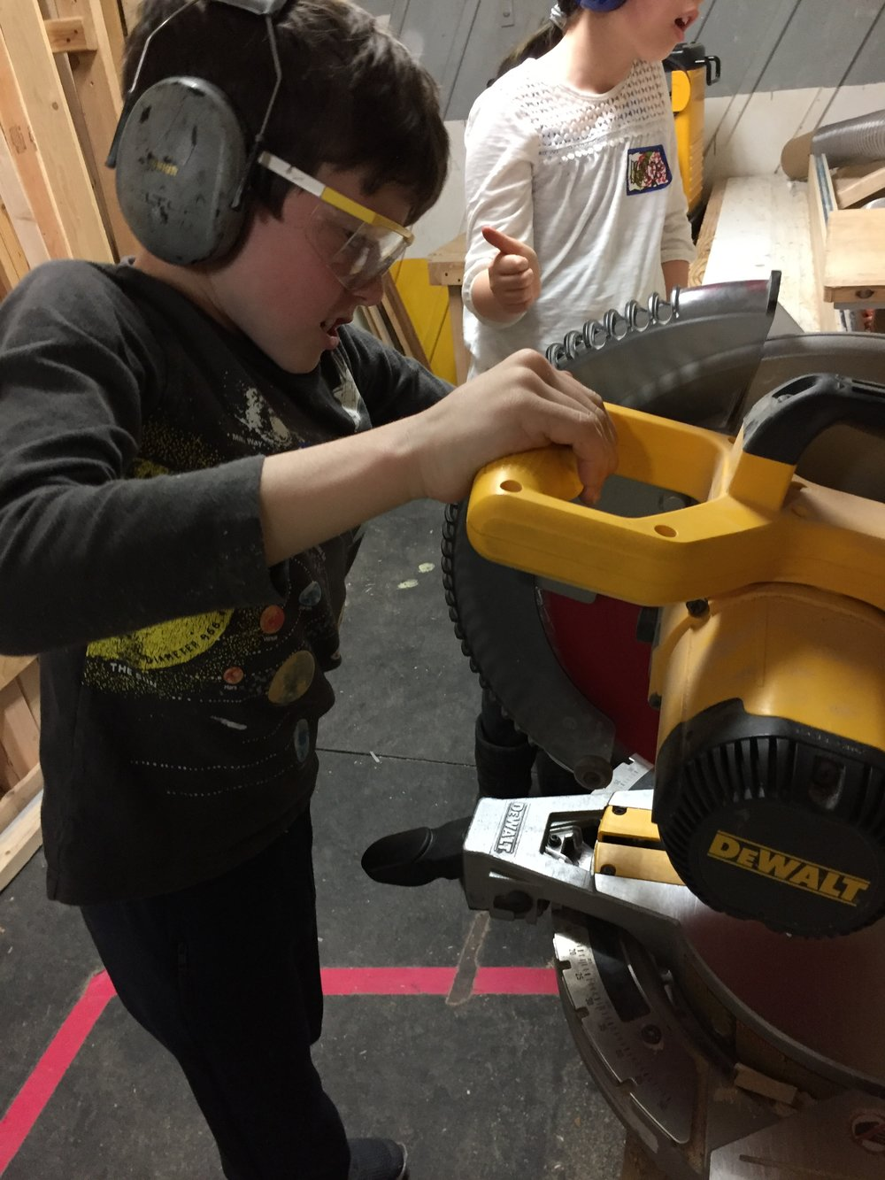 Bear on the Chopsaw.
