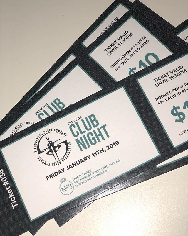 Tomorrow night is Silhouettes Club Night! Come out to Door Three Friday January 11th for a fun night out! Doors open at 10:30 and tickets, which can be purchased from company members, are valid until 11:30!