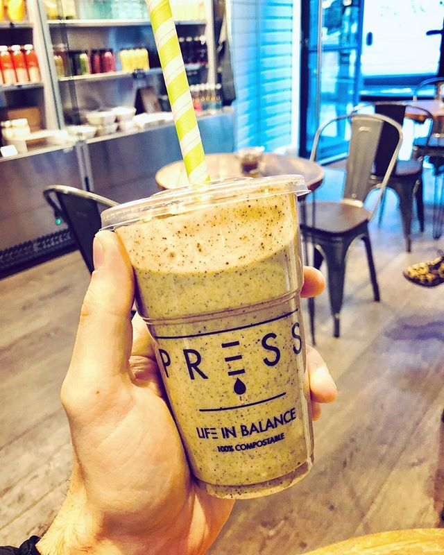 My favourite shake 'The Warrior' from @press_london - EXACTLY what I needed this morning 👌🏼✌🏼🙌🏼 #presslondon #lifeinbalance