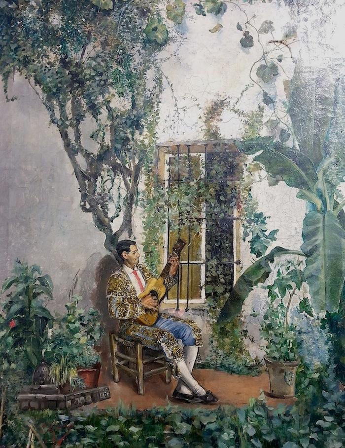 G. Garcia Spanischer Gitarrenspieler Öl auf Leinwand ca. 65 x 40cm, gerahmt