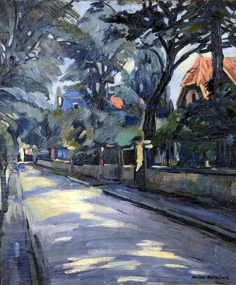 Anders Österlind  (Lépaud 1887 - 1960 Paris)  Straßenszene  Öl auf Leinwand  65 x 55cm, gerahmt  rechts unten signiert
