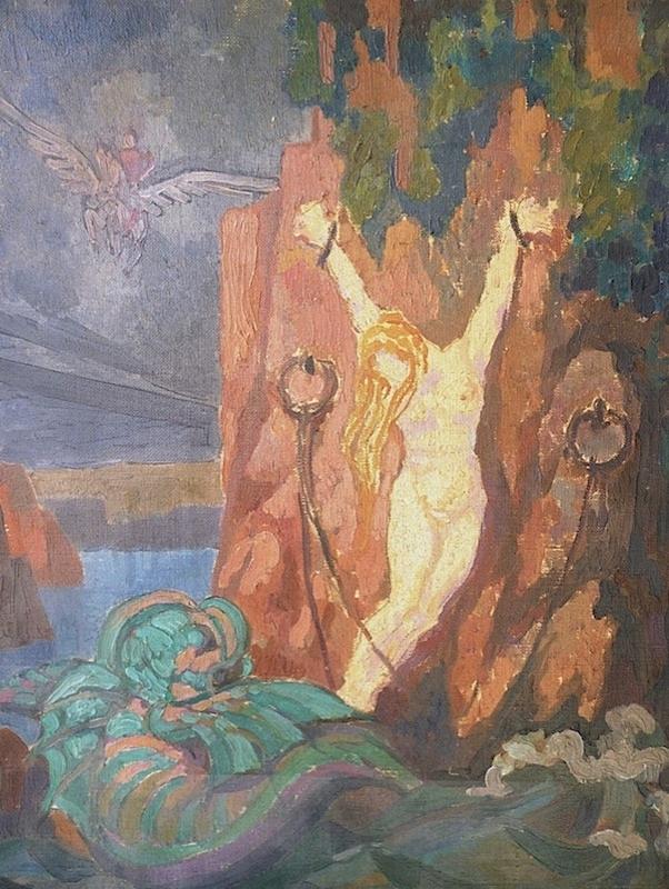 Helene Funke(Chemnitz 1869 - 1957 Wien) Andromeda Öl auf Leinwand 41 x 33 cm Provenienz: Privatbesitz Frankreich