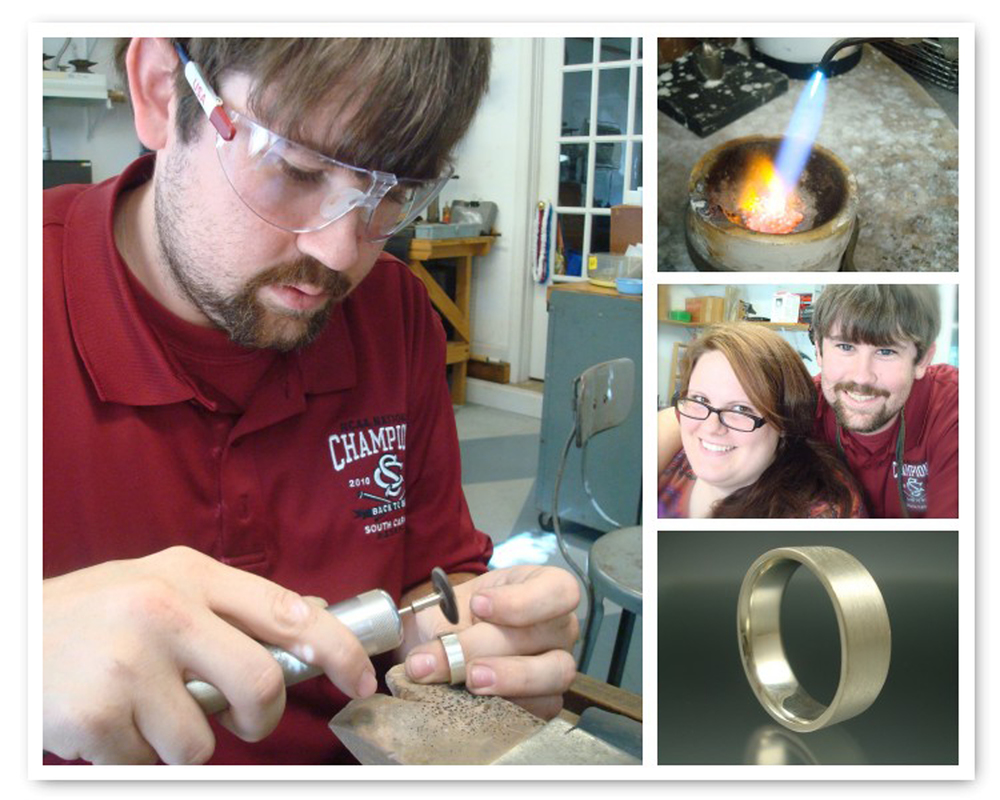 Bethany & Christopher did a great job making Christopher's sterling silver ring!