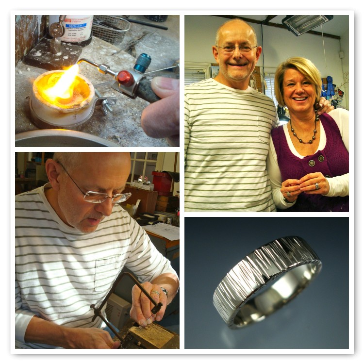 Clyde melted down a sentimental ring that once belonged to his late mother to make a ring that would fit him. ---Not a wedding ring but a family heirloom all the same!