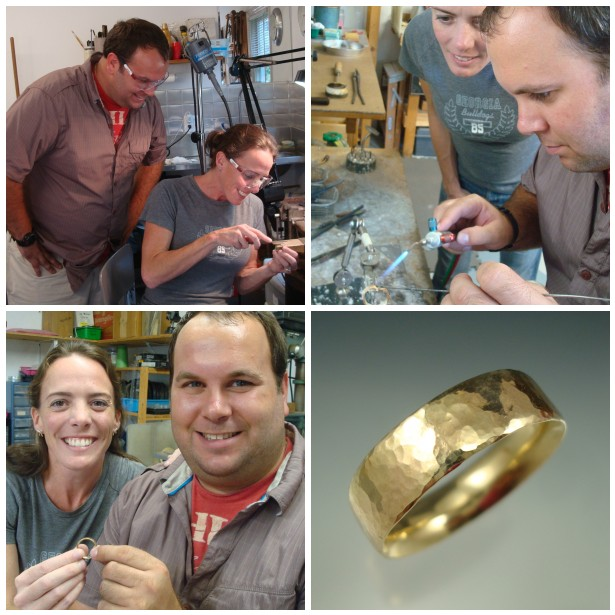 Jordan & Kristen made his yellow gold wedding band.