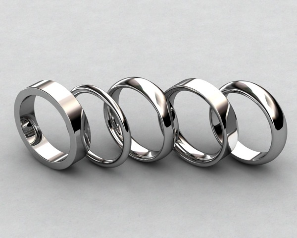 Ring Profile/Shapes:  Flat, Full Round, Comfort Fit, D-Shape, 1/2 Round