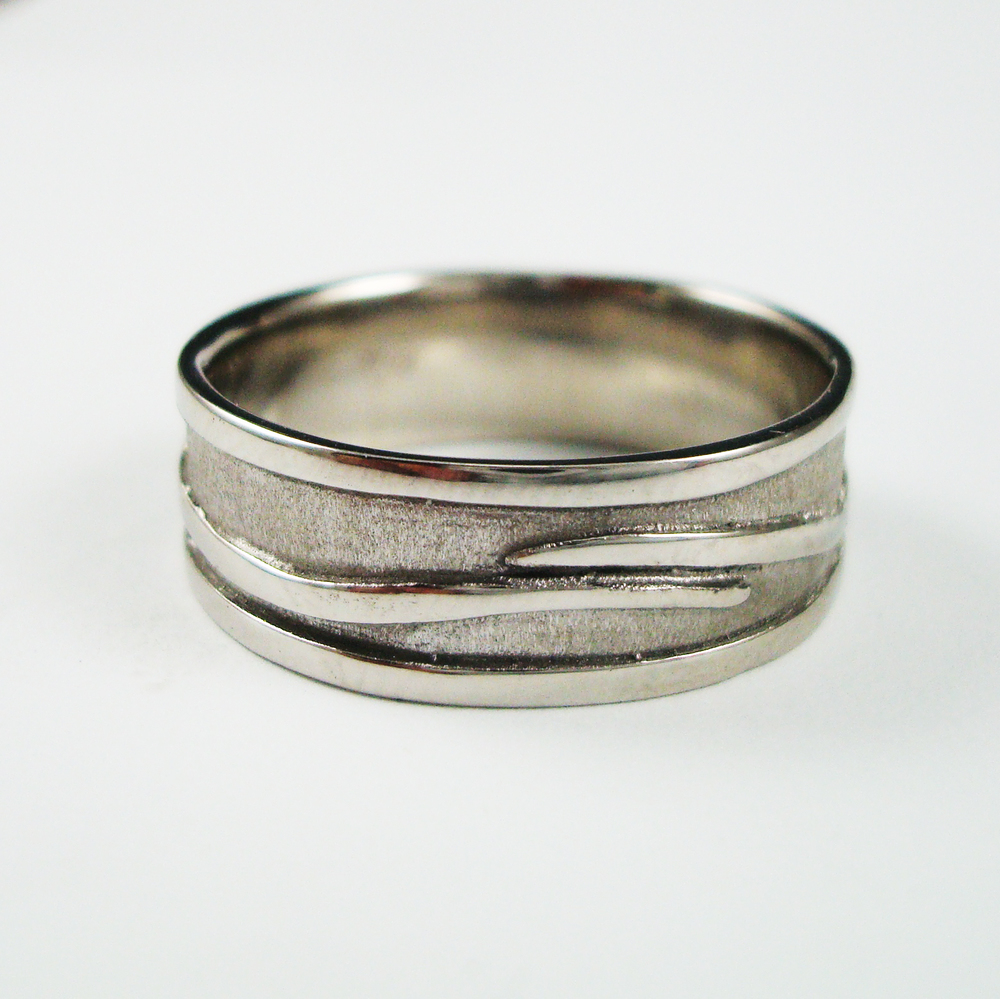 Men's Vine Ring in Stainless Steel made by Danielle Miller Jewelry