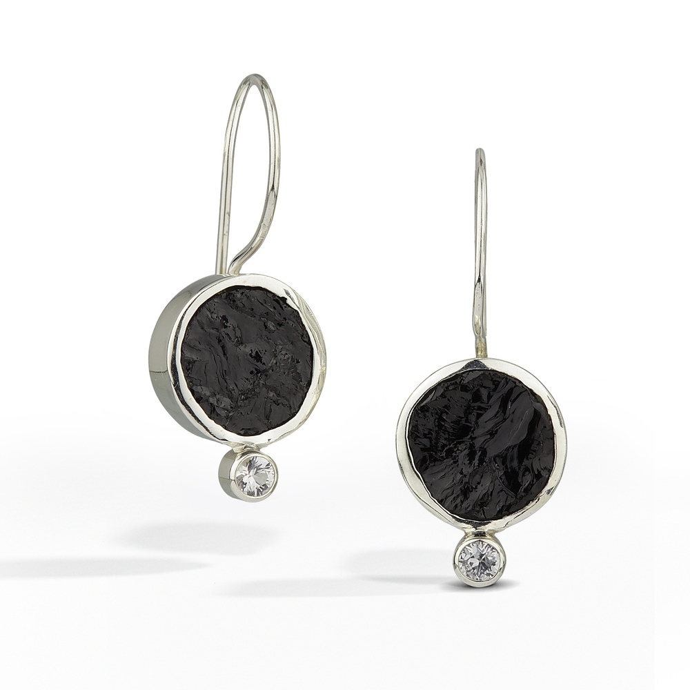 Black Tourmaline Earring