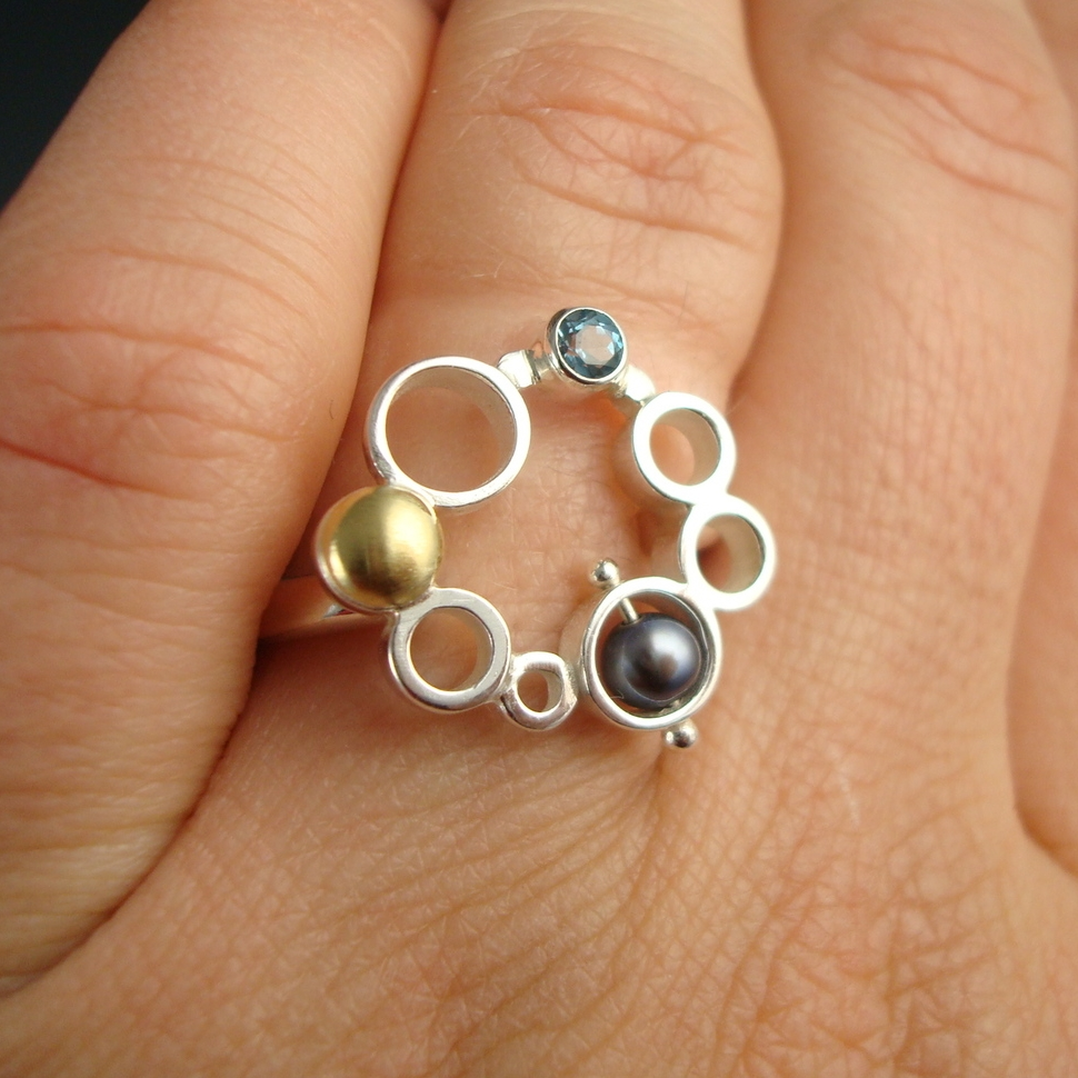 Circle of Bubbles Ring