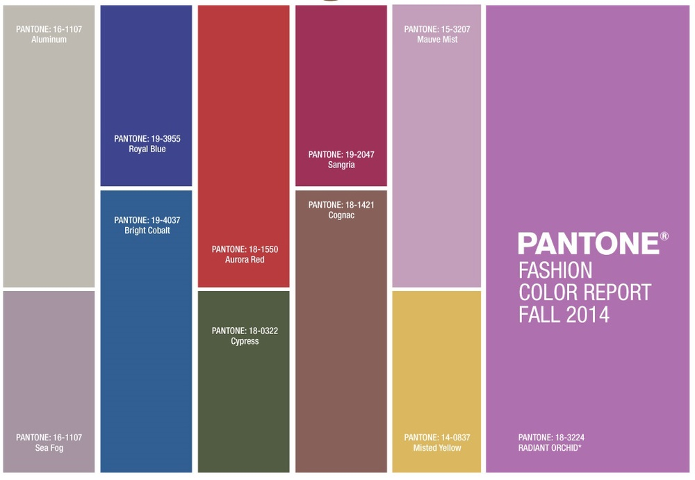 Pantone Fashion Color Report-Fall 2014