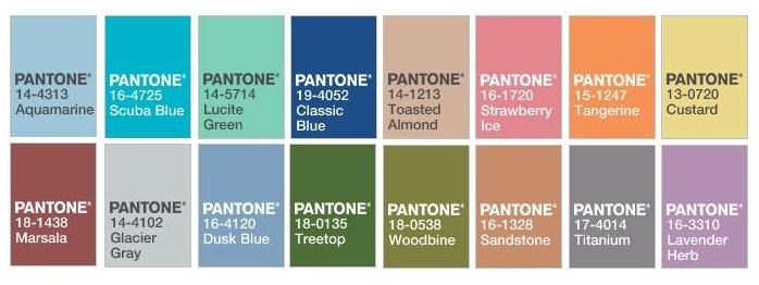 Pantone 2015Spring Colors