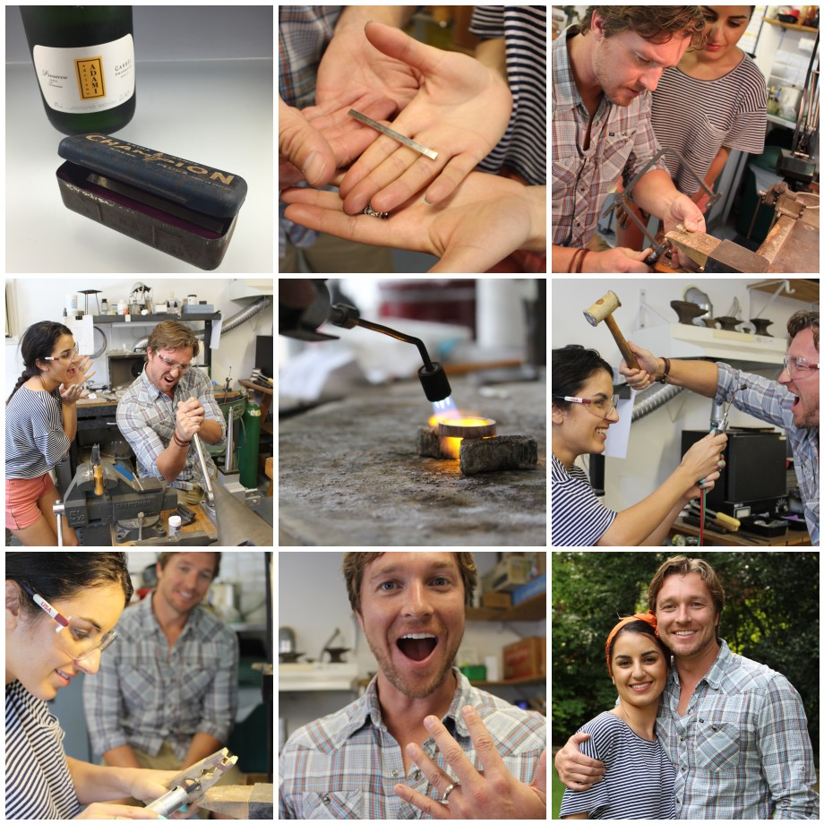 Sarah and Brian had a lot of fun while making Brian's white gold ring