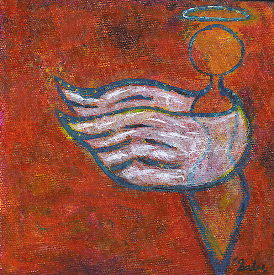 Angel Wings  Acrylic on Canvas 6 x 6 in.
