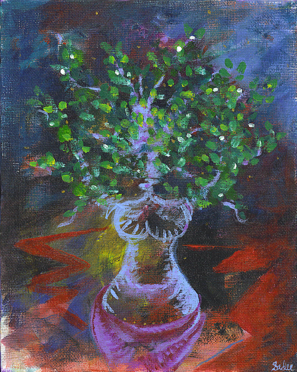 Tree Woman  Acrylic on Canvas 10 x 8 in.