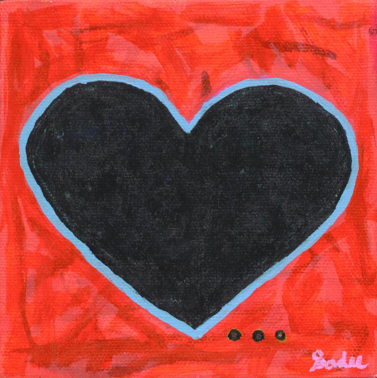 Heart  Acrylic on Canvas 5 x 5 in.