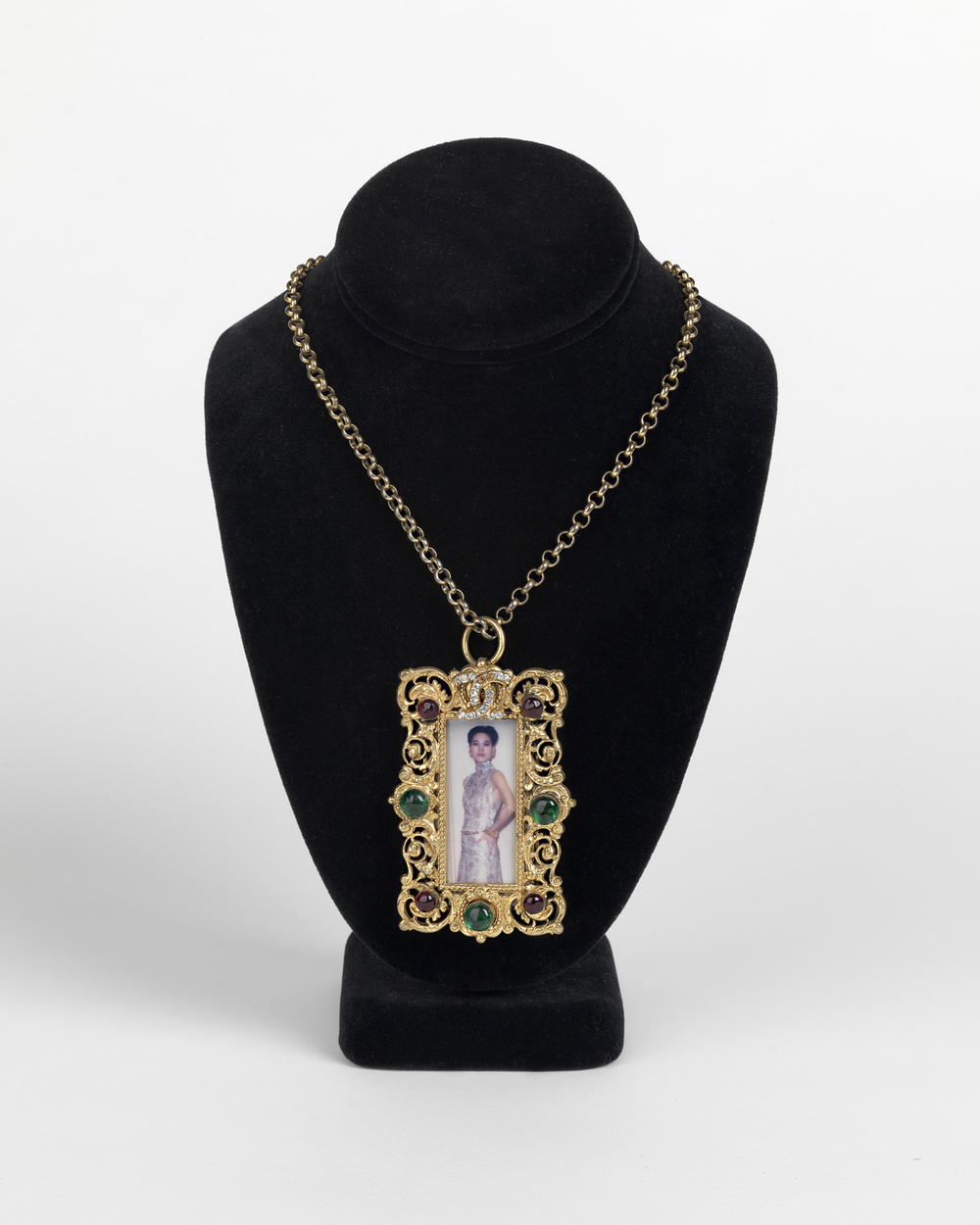 Chanel pendant with an original photograph. Circa 1970