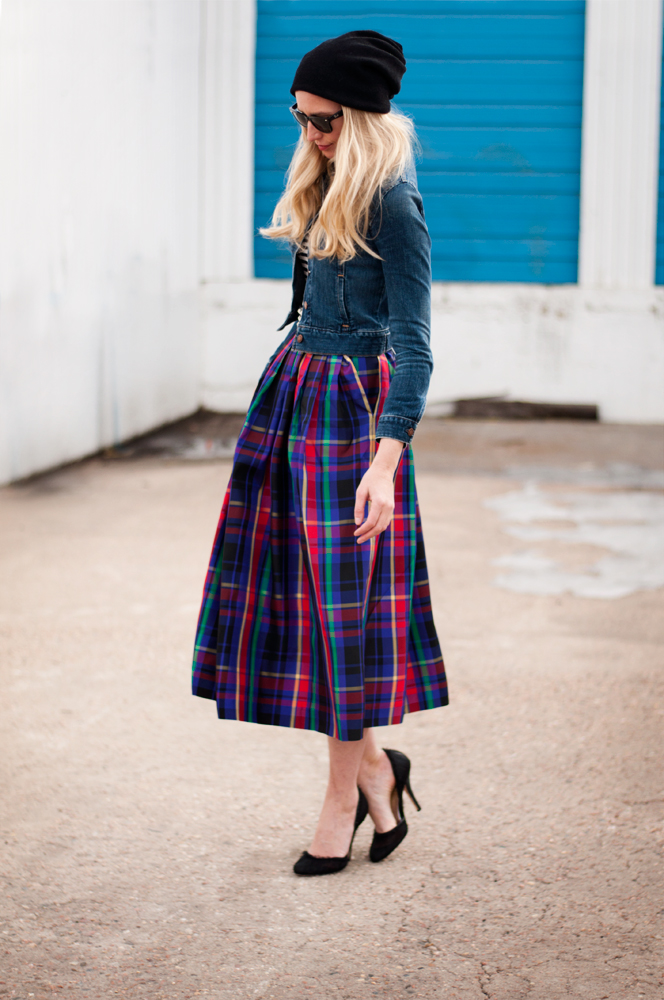 Plaid Taffeta — FORAGE FASHION