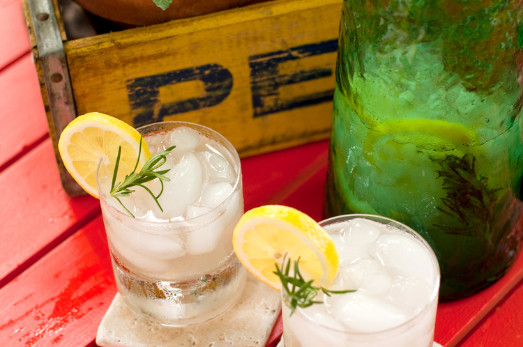 Freshly Squeezed Rosemary Infused Lemonade