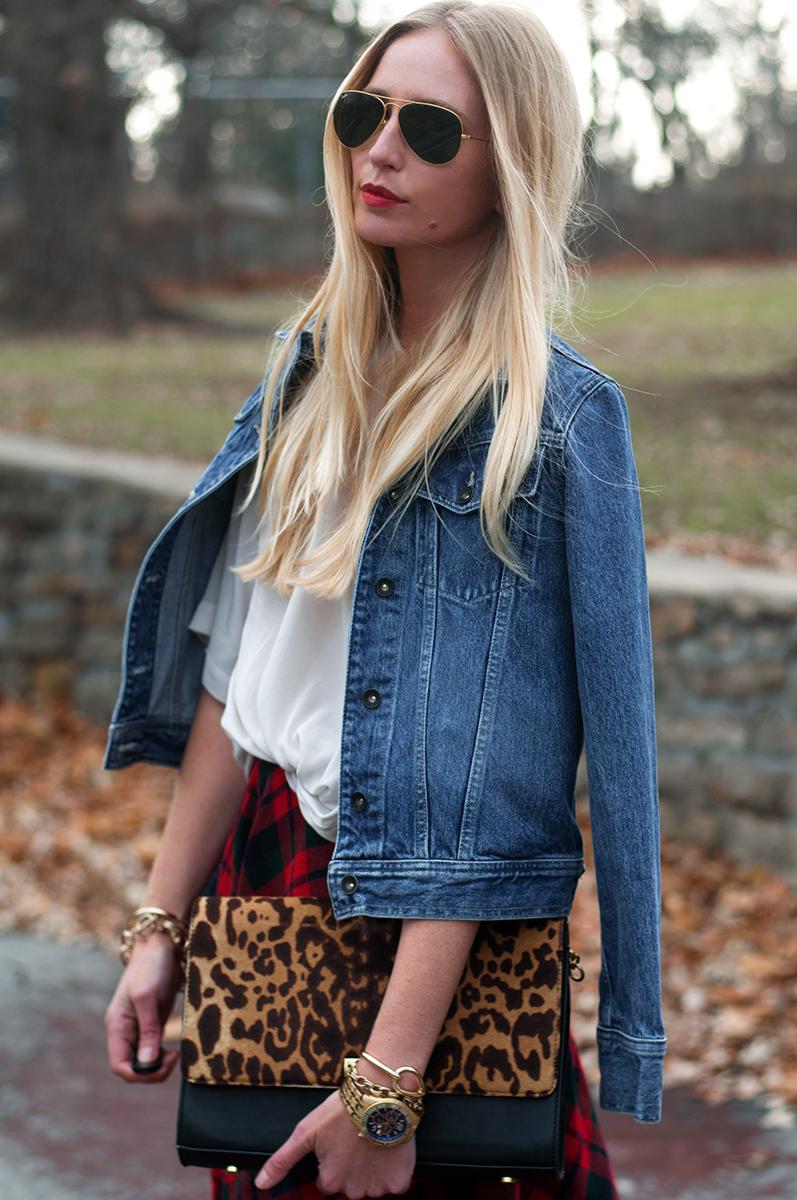 J Crew Edie Grande in Leopard Calf Hair