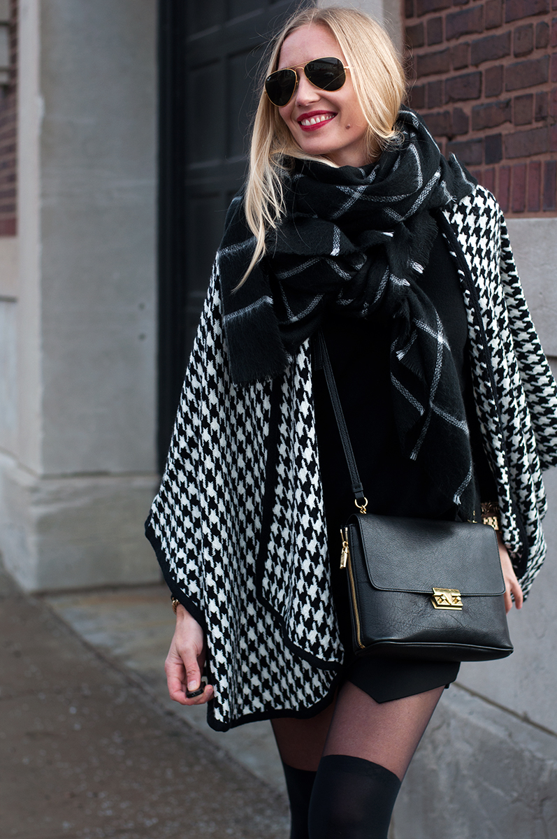 Zara Checked Windowpane Scarf