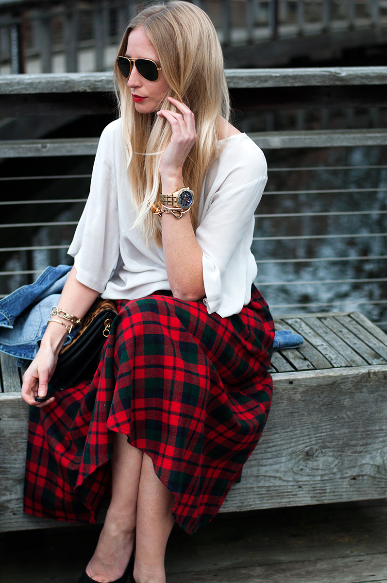 2c21c5422b Roseglennorthdakota / Try These Tartan Plaid Midi Skirt