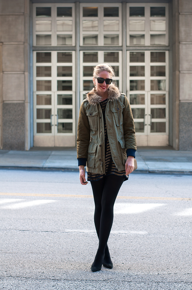 J Crew Quilted Boyfriend Fatigue Jacket
